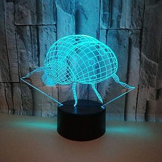 Lampe de Table LED lumière dégradé coloré 3D stéréo Tactile télécommande USB veilleuse Table de Chevet décorée avec Imagin...