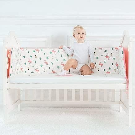 love djl Crib Bumper Baby Bed Bumper Baby Crib Protector Safe Sleeping Cartoon Cot Bumpers Crib For Newborn Cotton Infant Cushion Baby Bumper D