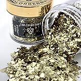 COLORBERRY Luxury Collection Drizzles – Sehr hochwertige, kleine Metallflocken zum Perfektionieren deines Resin Art Kunstwerkes - 15g (GOLD DRIZZLE)