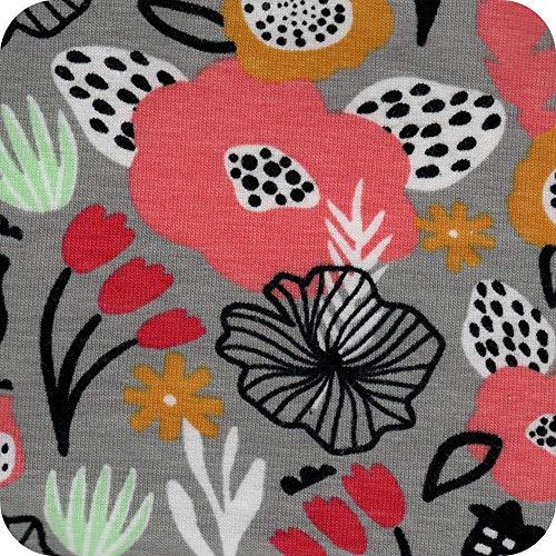 SIMON PIKE Jersey Stoff Meterware - Baumwolljersey nähen mit Baumwollstoff Meterware - Stoffe zum Nähen für Jersey, Kleider, Mädchen, DIY