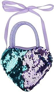 JannahMehr Children Glitter Reversible Sequins Heart Shape Tote Crossbody Shoulder Bag,Fashion Travel Shopping Casual Ligh...