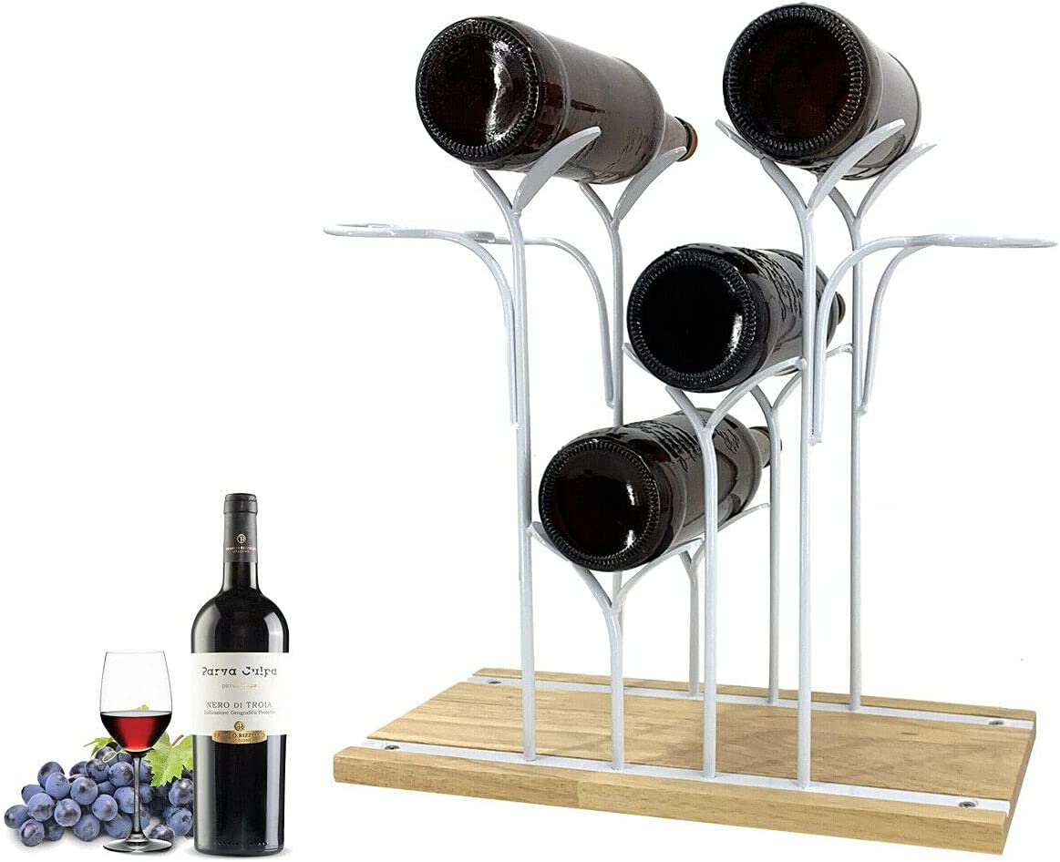 YILIKISS Special sale item Tabletop Wine Holder New mail order Countertop B Rack 4 Hold