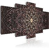 murando - Cuadro en Lienzo 200x100 cm Mandala - Lienzo Tejido-no Tejido - Cuadro su Lienzo Tejido-no Tejido - Impresion en Calidad fotografica f-C-0132-b-n Oriental Ornamento