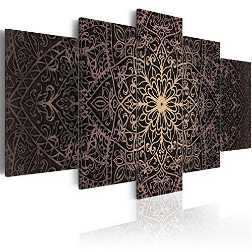 murando - Cuadro en Lienzo 200x100 cm - Mandala - Lienzo Tejido-no Tejido - Cuadro su Lienzo Tejido-no Tejido - Impresion en Calidad fotografica f-C-0132-b-n Oriental Ornamento