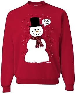 Let It Snow Sweatshirt Funny Snowman Christmas Xmas Sweater