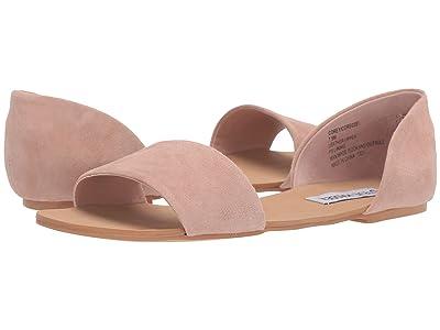 Steve Madden Corey Flat Sandals (Blush Suede) Women