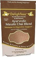 Ayurvedic Organic Masala Chai powder; No added sugar or sweetener; 4oz (100 Servings) - Caffeine free - Made with Ceylon (...