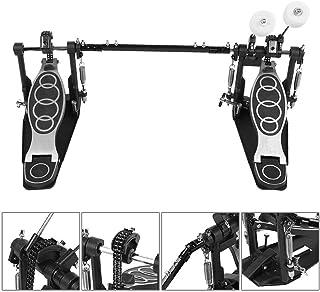 Pedal Doble de Batería, Drums Pedal Double Bass Dual Foot Kick Percussion Drum Juego de Accesorios para Batería de Percusión