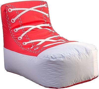 JGWJJ スチールグレイのビーンバッグチェア - メモリーフォームフィラー付き大きなコンフォートカバー - 巨大ベッド、大きなソファ、こじんまりとしたラウンジャー、チルマットレス - キッズ、大人&ティーンはこの巨大な袋を愛しています (Color : Red)