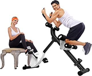 IPO 3-in-1 Folding Stationary Bike, Indoor Exercise Bike, Pedal Exerciser for Home Office Cardio Training with Electronic Display