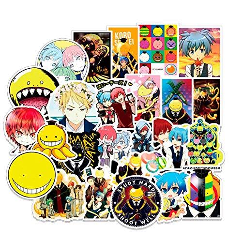 Ailin Online Assassination Klassenzimmer autoaufkleber, Anime Stoßstangen Aufkleber für Telefon, Laptop, Auto, Lugguage, Skateboard und mehr - 50pcs