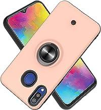 Funda para Samsung Galaxy M20 Soft TPU + Duro PC Doble Parachoques,Giroscopio Rotatorio,Botón de Descompresión, con Soporte de Anillo Funda Protectora Serie -Oro Rosa