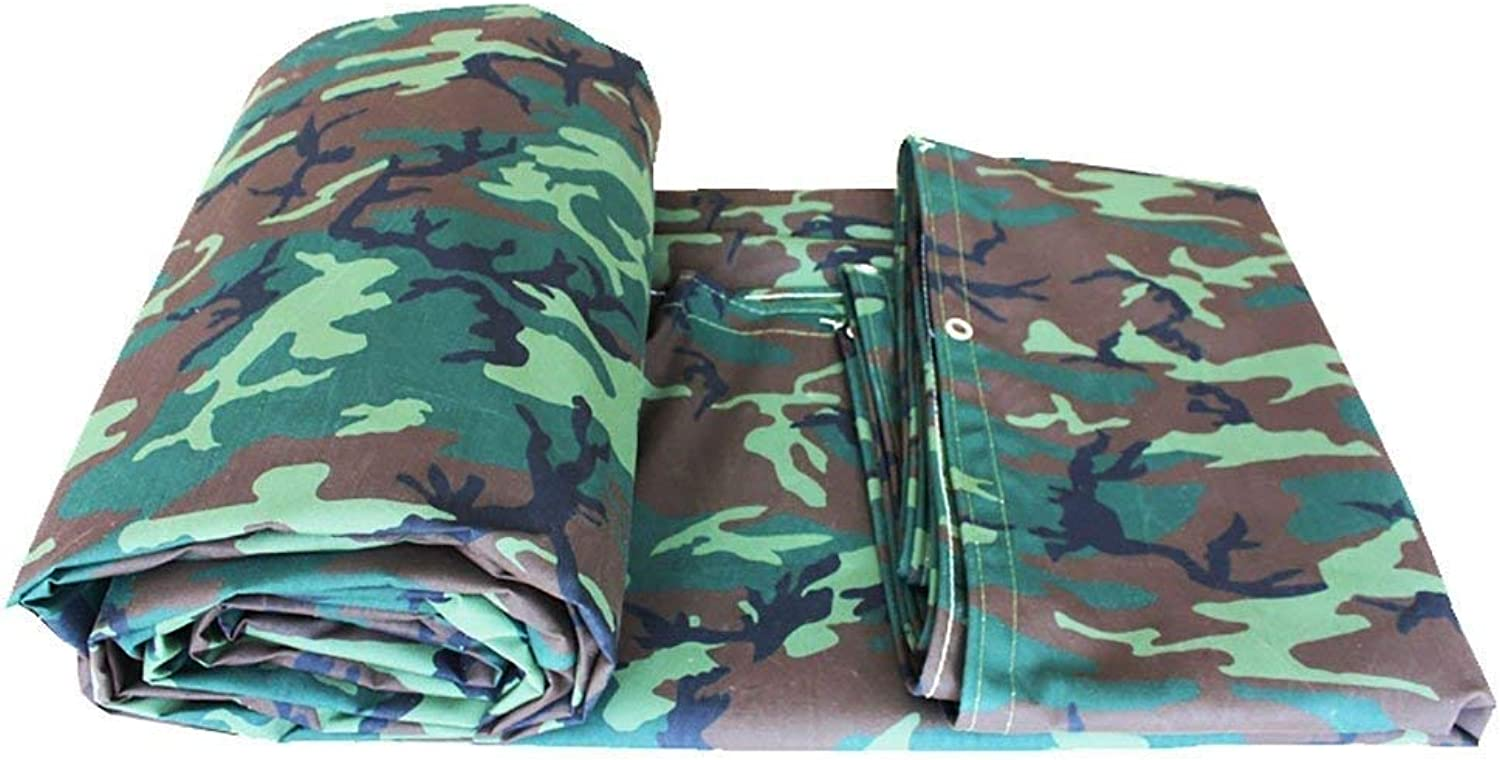 Oveifb Camping Camouflage Leinwand wasserdicht Poncho Camping Mat Tuch Outdoor Cargo Sonnencreme Isolation Verschlei Leinwand (gre   3  6m)