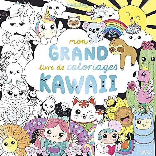 Mon grand livre de coloriages kawaii