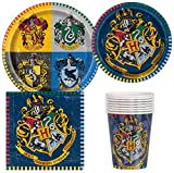 Unique Industries Harry Potter Birthday Party Supplies Pack for 8 Guests Including Lunch Plates, Dessert Plates, Lunch Napkins, Cups