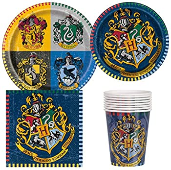 Unique Industries Harry Potter Birthday Party Supplies Pack for 8 Guests Including Lunch Plates Dessert Plates Lunch Napkins Cups