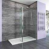 700mm <span class='highlight'>Walk</span> <span class='highlight'>in</span> Wetroom <span class='highlight'>Shower</span> Enclosure 8mm Easy Clean Glass Screen Panel with 300mm Return Panel