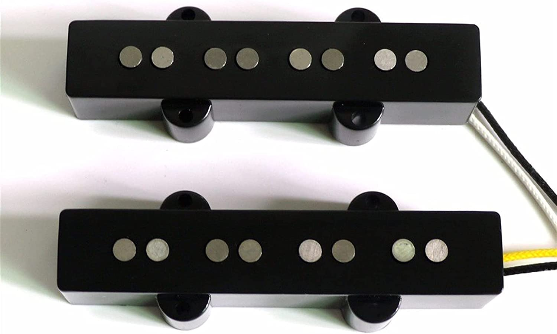 Pastillas Guitarra Kit De Guitarra Eléctrica Alnico 5 Pastillas De Guitarra De Fibra De Bobina para 4 Cuerdas De Guitarra De Jazz Set Pastilla Mástil