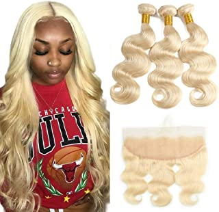 human hair closure blonde