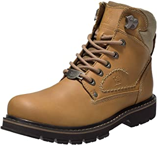 Men's Soft Toe Genuine Leather Work Boots 6'' Utility...