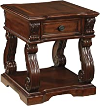 Ashley Furniture Signature Design - Alymere End Table - Accent Side Table - Vintage Style - Square - Rustic Brown