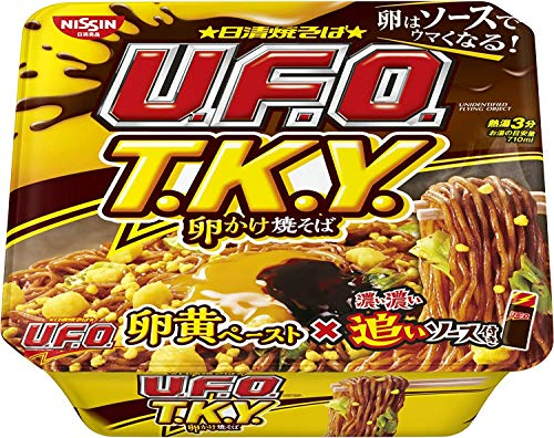 日清焼そば U.F.O.T.K.Y. 卵かけ焼そば 濃い濃い追いソース付 X1箱(12入)