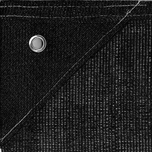 Bauzaunnetz Bauzaun Sichtschutznetz für Bauzaun 1,80m x 3,45m 150gr/m² (schwarz)