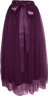 Women's Girls' Ankle Length Tutu Maxi A-line Long Tulle Skirt