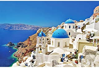 Kanzd Jigsaw Puzzles 1000 Pieces Puzzles for Adults Dreamy Aegean Sea Greece Santorini Landscape Puzzle 30 x 20 inch for F...