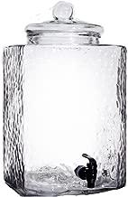 5 Gallon Glass Beverage Dispenser with Spigot Clear Modern Serveware