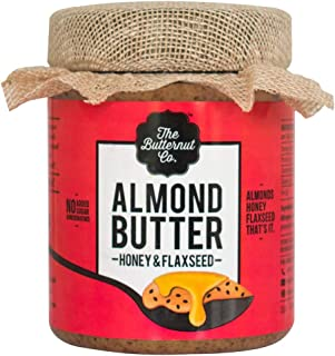 The Butternut Co. Almond Butter Honey & Flaxseed, 200 gm (No Refined Sugar, Dairy Free, 100% Natural)
