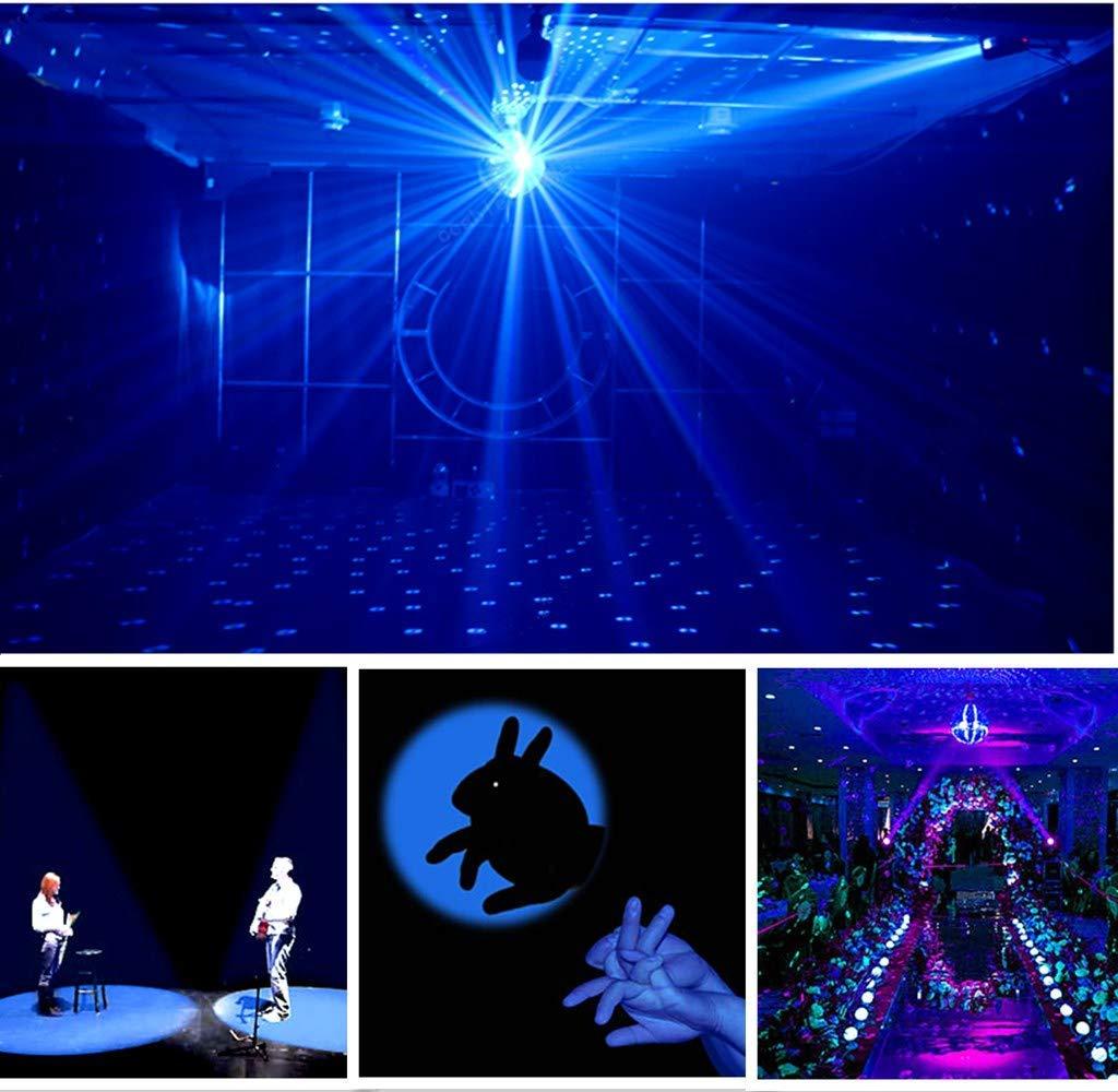 Pinspot Light with Remote, JLPOW Super Bright Mirror Ball Spotlight, Mini 15W RGBW LED Beam Spot lights Stage Effect Lighting, Best for DJ Disco Party Bar Club Show Wedding Children's Theater