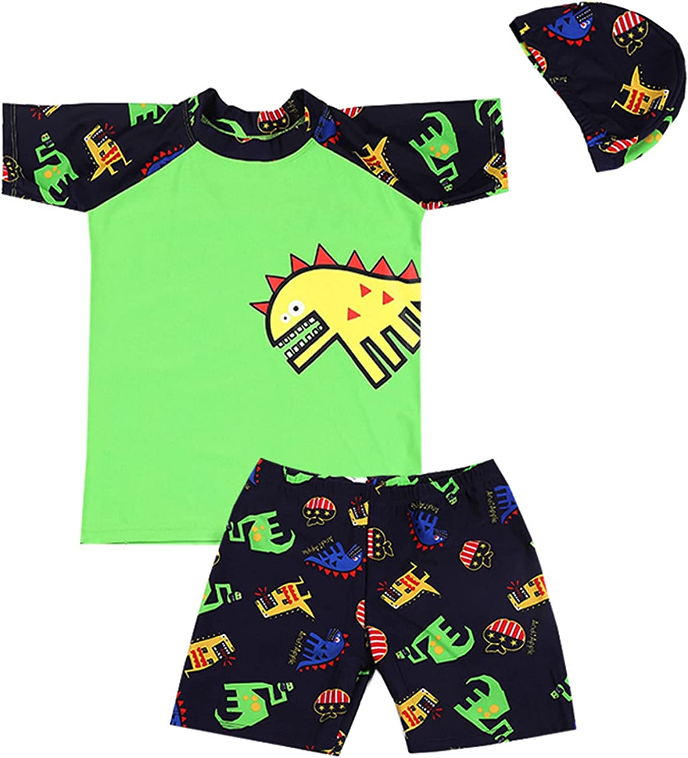 Boys Two Piece Swimsuit Dinosaur Bathing Suit Max Opening large release sale 55% OFF T Swim Rash Guards