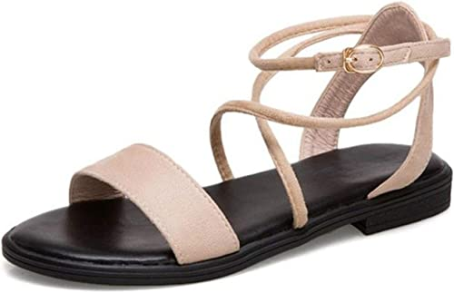 Sandales Plates pour Femme avec Bout Bout Ouvert et Sangle de Cheville  livraison gratuite et rapide disponible