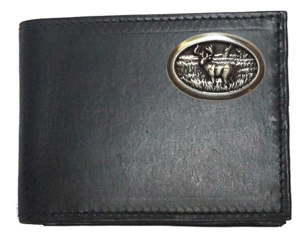 木コーナーせっかちGenuine Texas Brand ACCESSORY メンズ US サイズ: Bi-Fold with Flip ID カラー: ブラック