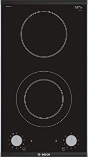 Bosch 30 cm Domino 2 Burner Ceramic Hob, Black - PKF375CA1M, 1 Year Warranty