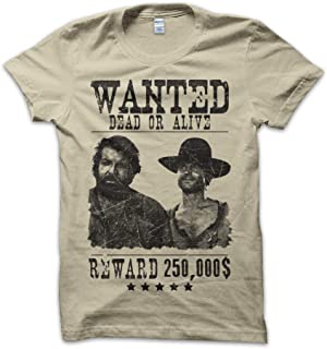 Bisura T-Shirt Wanted Bud Spencer e Terence Hill dal Film Lo Chiamavano Trinit/à