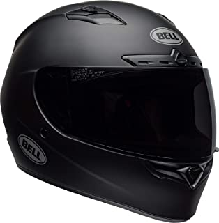 Bell Qualifier DLX Blackout Street Motorcycle Helmet (Blackout Matte Black, Medium)