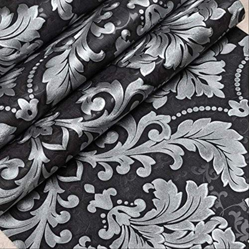 Carta da Parati 3D Moderna in Vinile di Lusso Damascata Soggiorno Rotolo Grigio Argento Nero Rosso Marrone Cina A00106 Adesivo Murale da Parete