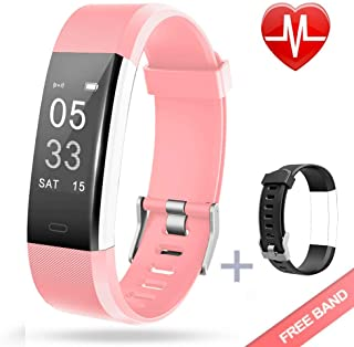 Lintelek Fitness Tracker, Heart Rate Monitor Activity Tracker with Connected GPS Tracker, Step Counter