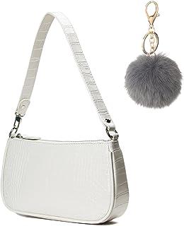CAMILIFE Handtasche Damen Vintage, Umhängetasche mit Schickem Krokoprägung-Druck, Kleine Umhängetasche Damen,Damen Schulte...