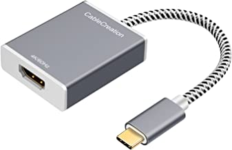 USB C to HDMI, CableCreation USB Type C to HDMI 4K @ 60Hz Aluminum Adapter (Thunderbolt 3 Compatible), Compatible with MacBook Pro, 2019/2018, iPad Pro 2018, Surface GO, Samsung S10, LG G5, Gray