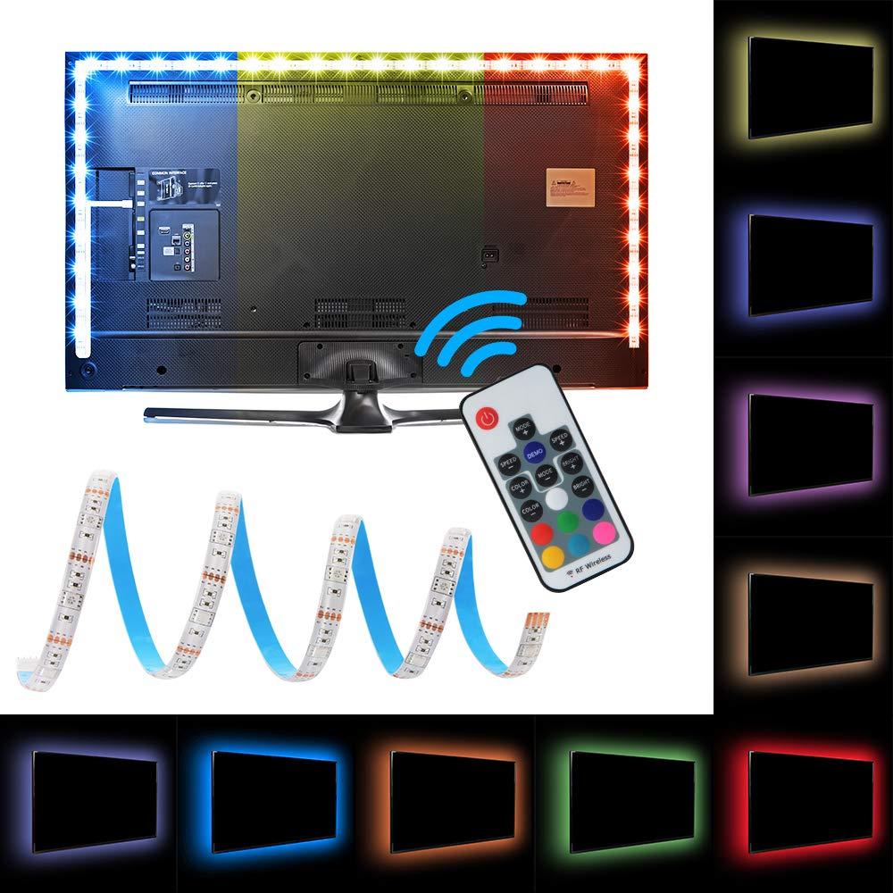 kreema 1 m luz de banda flexible 30LED RGB con 5 V cable usb y ...