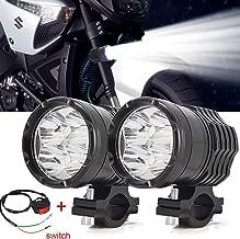 Faros Antiniebla LED Moto,40W Faros Auxiliares de Moto Faros Delanteros 12V 24V Largo Alcance Luces de trabajo 3600LM con interruptor para Moto Camión Off-Road 4X4 ATV Tractor 2Pcs