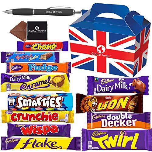 Cadbury Chocolate Selection Box - Cadbury Flake, Wispa, Crunchie, Wispa Gold, Chomp, Timeout, Fudge, Dairy Milk, Wholenut, Double Decker, Picnic & Cadbury Caramel - Cadbury Milk Chocolate.