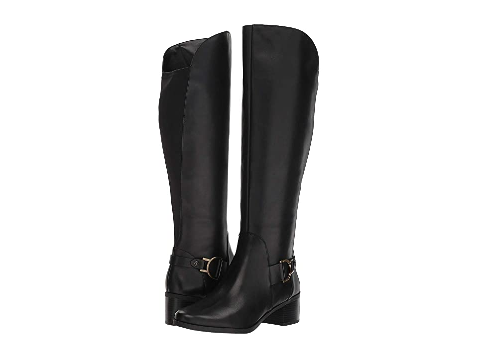 Anne Klein Jamee Riding Boot (Black Leather) Women