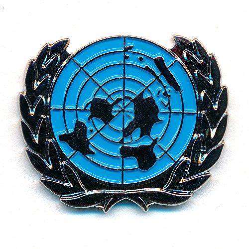 UN UNO Vereinte Nationen Welt Symbol Badge Metall Button Pin Anstecker 0788