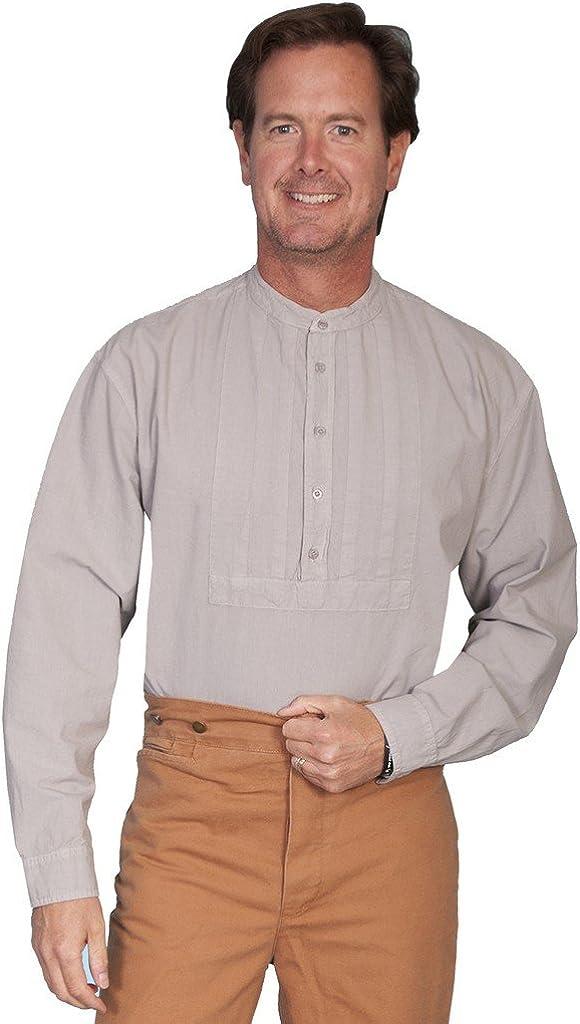 Scully Rangewear 卸直営 Men's Pleated Inset and Big Bib 販売期間 限定のお得なタイムセール Shirt