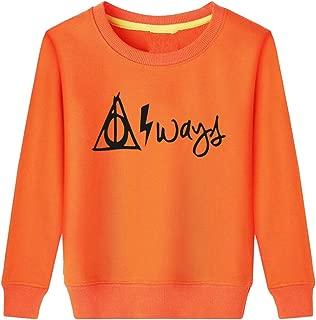 Rui-En Always Symbol Hallows Lightning Bolt Kids Sweatshirt
