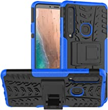 Galaxy A9 2018 Case,PUSHIMEI Air Cushion Heavy Duty Shockproof with Kickstand Hard PC Back Cover Soft TPU Dual Layer Protection Phone Stand Case Cover for Samsung A9 Star pro/A9s(Blue Kickstand case)